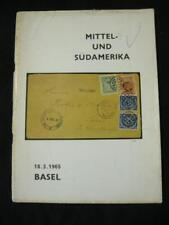 BASEL AUCTION CATALOGUE 1965 MITTEL- UND SUDAMERIKA (MIDDLE & SOUTH AMERICA)