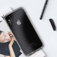 Crystal Clear Case Transparent Gel TPU 360 Degree Protection For iPhone X/8/7/6