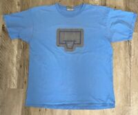 Nike Mens Graphic T-Shirt Blue Basketball Goal Crew Neck Tee L
