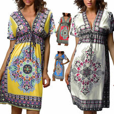 Paisley Polyester Short Sleeve Dresses for Women