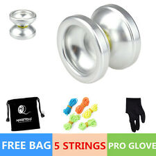 Magic YOYO Ball T6 Rainbow Aluminum Alloy Kids Toys Gift Silver 5 String 1Bag&S