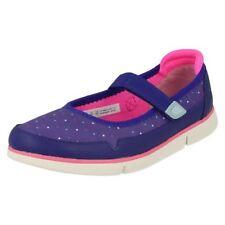 Chaussures décontractées bleues en cuir pour fille de 2 à 16 ans