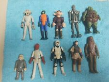 Vintage Kenner Star Wars 1977 Figure Lot of 10 ORIGINAL FIGURES * LEIA, CHEWIE +