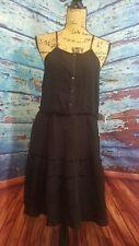O'neill womens dress size Large black Malinda woven casual