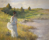 An Afternoon Stroll William Merritt Chase Fine Art Print on Canvas Giclee Small