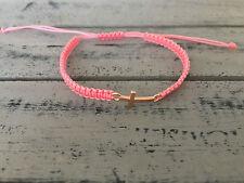 DIY Armband Armkette *Kreuz* Rosa Rosegold Handmade NEU