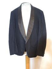 1900's Victorian / Edwardian Semi Ready Black Tuxedo Jacket w Silk c-