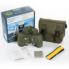 Military 10x50 BAK4 HD glass Binocular Rangefinder Telescope&Compass Waterproof