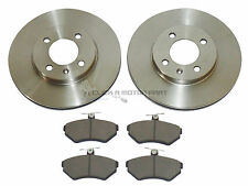 VOLKSWAGEN VW POLO 1.4 16V 1997-2002 FRONT 2 BRAKE DISCS AND PADS SET NEW
