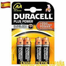 4 Pilas DURACELL Plus Power AA, LR6 MN1500 Batería Alkalina Long Lasting