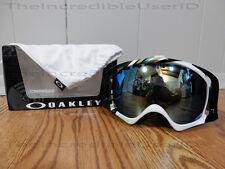 Oakley Crowbar Slalom Mint Emerald Iridium Goggles Snowboard Green White SO RARE