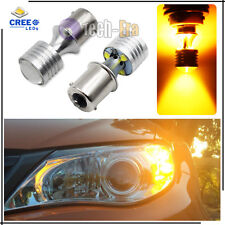 2 High Power Amber 1156 P21W 7507 BA15S 20W CREE LED Bulbs for Turn Signal Light
