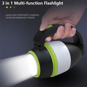Folding Tent Lantern Torch LED Light Flashlight Camping Lamp Rechargeable