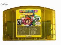 Nintendo N64 18 in 1 Card Mario Party 1 2 3 Aggregation +15 NES Edition US Card