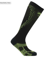 Zoot - Men's Ultra 2.0 Crx Compression Sock - Black/Safety Yellow - Size 4