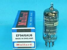 MULLARD AMPEREX HARMAN KARDON 6AU6 VACUUM TUBE SINGLE LITTLE DOT SWEET TEST NOS