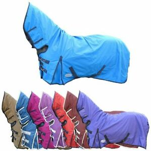 LIGHTWEIGHT 100G COMBO WATERPROOF RAIN TRAVEL TURNOUT RUG ALL COLOURS & SIZES
