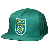 Stowe Vermont Hat by LET'S BE IRIE - Vintage Ski Patch, Green Trucker, Snapback