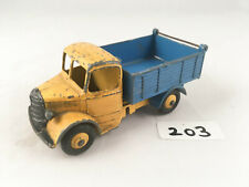 VINTAGE DINKY TOYS # 410 BEDFORD TIPPER TRUCK LORRY DIECAST MODEL YELLOW/BLUE