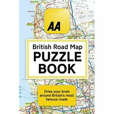 The AA British Road Map Puzzle Book - Paperback NEW Brocklehurst, H 17/10/2019