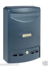 Cassetta postale in alluminio pressofuso grigio ghisa serratura cilindro