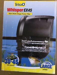 Tetra Whisper EX45 Silent Multi-Stage Power Filter 45 Gal Fish Aquariums Open Bx