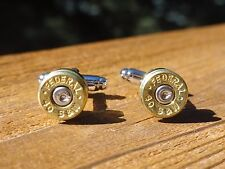.40 Caliber Cufflinks -- Ammo Ammunition Brass Bullet Smith and Wesson