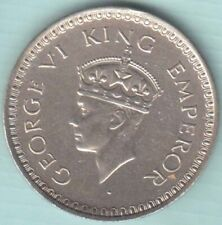 1943 British India King George VI One rupee Nr.about UNC silver coin