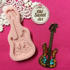 Guitar Woman cowboy Silicone Mold Food Cake Decoration soap wax  fondant  (FDA)