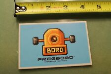 "FREEBORD Snowboard the Streets BORD cartoon  ~4"" Vintage Skate Decal STICKER"
