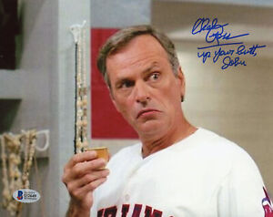 Chelcie Ross Signed 8x10 Major League Photo Up Your Butt Jobu Beckett Witnessed