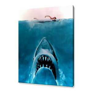 Jaws canvas print picture wall art home decor free fast delivery