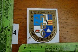 Alter Aufkleber Modellbau Gemeinschaft Stadt BAD SCHWARTAU