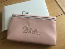 Dior Pale Pink Beaded Clutch Makeup Travel Bag. New In Dior Box. Free UK P&P.