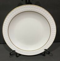 Set of 5 Corning Pyroceram Centura Sculptured Tulips Dual Gold Band Lunch Plates