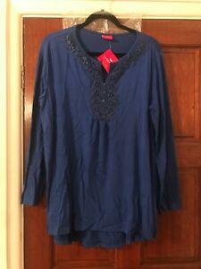 TOGETHER TUNIC IN A LOVELY BLUE SIZE XL BNWT