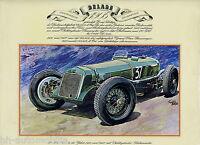 Poster Oldtimer Delage 1,5 Ltr. 1926 41,3x33 cm Oldtimerposter Autoposter