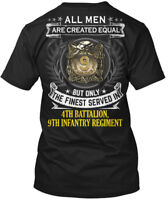 4th Battalion 9th Infantry Regimant - All Men Are Hanes Tagless Tee T-Shirt