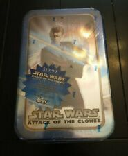2002 Topps Star Wars Attack of the Clones Movie Cards +Collectible TinSkywalker