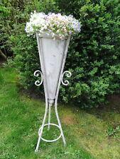Ständer mit Pflanztüte aus Metall, 80 cm hoch, Gartendeko Wohndeko Shabby