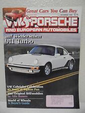 DECEMBER 1989 VW & PORSCHE MAGAZINE EUROPEAN AUTOMOBILES