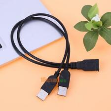 2 Dual USB 2.0 A Male to USB Female Jack Y Splitter Hub Power Cord Adapter Cable