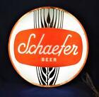 """VTG 1970th  Rare Schaefer Beer hanging Lighted Bar Advertisement 13"""" Sign works"""