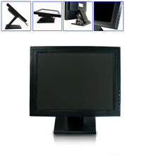 """15"""" LCD Touch Screen Monitor Security Display HD TV RGB VGA USB Touchscreen SALE"""