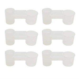 AUEAR, Set of 12 Bird Soda Pop Water Bottle Plastic Drinker Feeder Cup for Cup