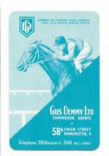 GUS DEMMY -HORSE RACING  BOOKIE X 1 ONLY SINGLE VINTAGE PLAYING/SWAPCARD