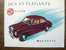 BVC British Motor Corporation MG Magnette Ad Foldout Brochure 1950s