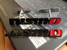 New 3D Chrome Metal Badge Front Grille Grill & Rear Combo Car Emblem Nismo Logo