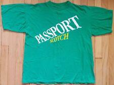 Vintage 80s PASSPORT SCOTCH shirt L green whiskey Scotland booze alcohol tshirt