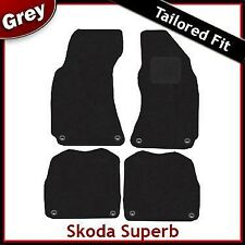 Skoda Superb 2001 2002 2003 ... 2006 2007 2008 Tailored Carpet Car Mats GREY